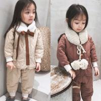 童装女宝宝棉衣棉裤套装儿童衣服两件套