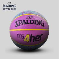 斯伯丁女子篮球官方正品nba耐磨室外6号水泥地比赛粉色非真皮牛皮83-050y