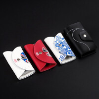 中国风特色真皮钥匙包 创意时尚出国礼物商务活动礼品可定制logo