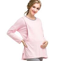 孕妇睡衣秋冬季月子服假两件彩棉产妇喂奶产后哺乳衣秋季家居服