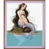 美人鱼十字绣新款卧室客厅画母子情深精准印花新品新款人物十字绣