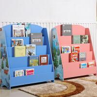 御目 儿童书架 家用木质卡通落地多层玩具收纳整理储物架幼儿园男女宝宝书柜超大置物架绘本架子满额减限时抢家具用品