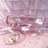 卡携化妆包女收纳包小兔子 女生防水旅行洗漱包半透明收纳包 化妆包 粉底兔子月亮