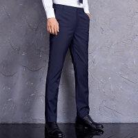 春夏男士修身西裤藏青色休闲小脚西装裤上班青年韩版商务男裤长裤NS02