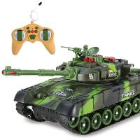 遥控坦克儿童充电大号对战模型大炮男孩金属汽车越野车男童玩具