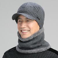 中老年人帽子男冬天保暖针织毛线帽加绒加厚骑车韩版潮青年护耳帽