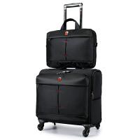 SWISSGEAR瑞士军刀英伦时尚子母拉杆箱包男女16英寸商务小型行李箱包密码箱布箱万向轮