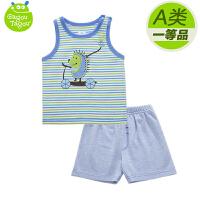 【加拿大童装】GagouTagou婴幼儿男童装宝宝背心短裤两件套套装无袖小孩夏季衣服