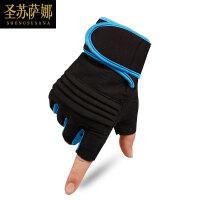 护腕半指手套男女哑铃器械护腕力量训练健身透气防滑护掌运动手套