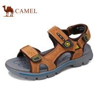 骆驼牌 男鞋 新品户外休闲凉鞋男士舒适头层牛皮休闲鞋