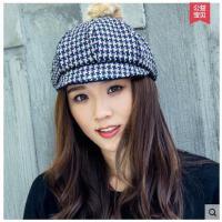 帽子女秋冬贝雷帽韩版潮时尚八角帽军帽韩国英伦时装帽秋季鸭舌帽