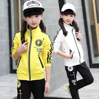 女童运动套装女装秋装儿童衣服