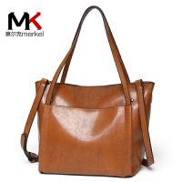 【送手包】莫尔克女包包2018新款欧美时尚简约托特包休闲手提包斜跨包单肩包大包女子母包