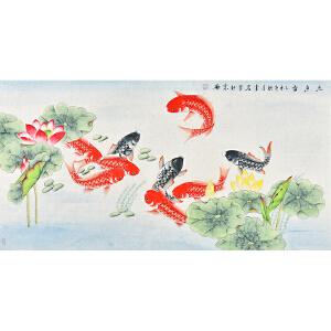 北京画院画家    李岩《松龄鹤寿》gh04005