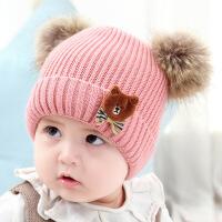 宝宝帽子秋冬季婴儿毛线帽0-1-2岁儿童帽男女孩