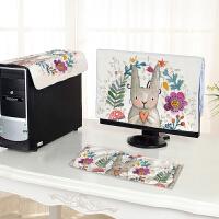 御目 防尘罩 电脑罩电脑套可爱布艺台式电脑防尘套一体机保护套液晶显示器盖布家居用品
