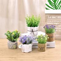仿真植物盆栽摆件假花多肉咖啡厅绿植家居客厅室内装饰品盆景摆设