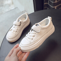 男童板鞋2019新款春秋季休闲小白鞋男儿童皮面魔术贴童鞋子潮鞋