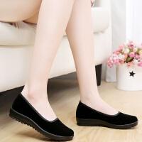 老北京布鞋女鞋平跟单鞋服务员酒店工作鞋软底妈妈鞋舞蹈鞋黑布鞋