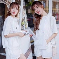 运动服卫衣套装女2019春季韩版时尚休闲嘻哈束脚裤学生两件套
