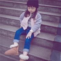 女童女宝宝外套秋冬季儿童童装棒球服