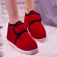 老北京棉鞋男手工布鞋冬季男女老人包跟棉拖鞋加绒加厚保暖鞋