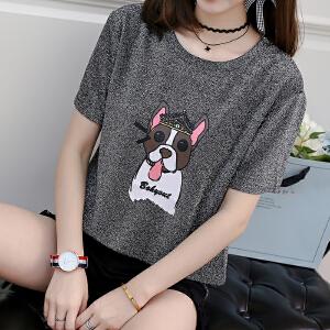 短袖T恤女夏装韩版半袖体恤上衣宽松打底衫潮