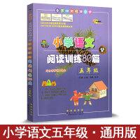 小学语文阅读训练80篇 五年级5年级语文阅读专项练习册 全国68所小学 适合各种语文课本各版本通用阅读理解练习题辅导书