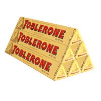瑞士三角 瑞士进口 牛奶巧克力含蜂蜜及巴旦木糖 100g*6 休闲小零食