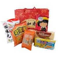 小嘴不停 台湾休闲零食大礼包 约600g 6种组合风味 特产美食