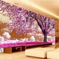 5D钻石画满钻风景卧室欧式点钻石十字绣客厅简约现代樱花树钻石绣