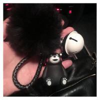 创意可爱熊本熊 汽车钥匙扣男士女款包包挂件饰情侣钥匙链圈