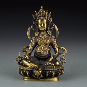 黄铜藏传黄财神