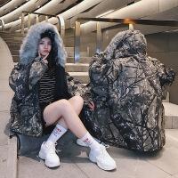 同色系气质情侣装冬装2018新款韩版宽松羽绒面包冬季棉袄外套 图片色