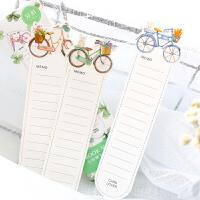 信的恋人 十七岁的单车 手绘花朵自行车盒装书签 清新 青春卡片