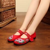 春秋夏季老北京布鞋中老年女鞋民族风绣花鞋浅口单鞋平底鞋妈妈鞋