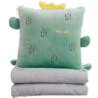 抱枕被子两用车内办公室午睡枕多功能枕头被折叠汽车靠垫靠枕
