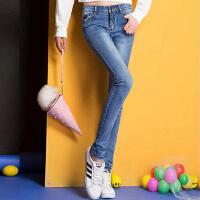 春夏秋季新款女式显瘦修身牛仔裤百搭潮流韩版小脚裤WM1701