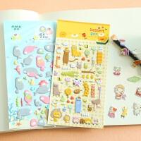 三年二班●韩国文具可爱手机手账装饰立体贴纸 手帐DIY相册贴纸画