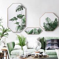 家居八边形现代简约装饰画北欧客厅玄关壁挂画墙画绿植物夏日SN0172 三副组合套餐(总尺寸长2米*高1.2米左右) 单