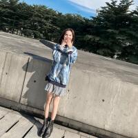 早春秋�b女2018新款小香�L心�C裙子�O�感�W生�@瘦�{色印花�B衣裙 �{色