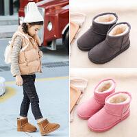 童鞋儿童冬季加棉软底防水加绒百搭短鞋