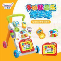 贝恩施 婴儿学步车 7-18个月宝宝学站立走路多功能防侧翻手推车