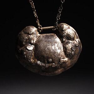 银瑞兽长命富贵银锁