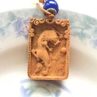 太行崖柏雕貔貅车钥匙挂件 木制钥匙扣 平安无事牌礼品钥匙圈