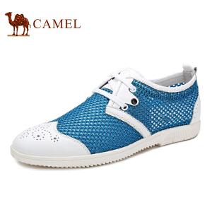 骆驼牌 男鞋 夏季时尚网面鞋透气网布鞋 系带低帮鞋休闲鞋