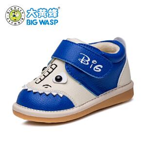 大黄蜂童鞋冬季加厚保暖男宝宝鞋子0-1岁学步鞋秋冬婴儿棉鞋软底