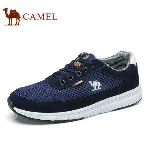camel骆驼男鞋夏季新品 日常休闲运动网布鞋低帮跑步鞋
