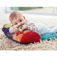 婴儿爬爬毯趴趴枕抱枕游戏毯儿童枕 带摇铃 响纸 牙胶一件