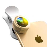 Liweek 手机镜头广角微距鱼眼三合一单反拍照套装iphone通用外置摄像头iphone7 6plus镜头 香槟金